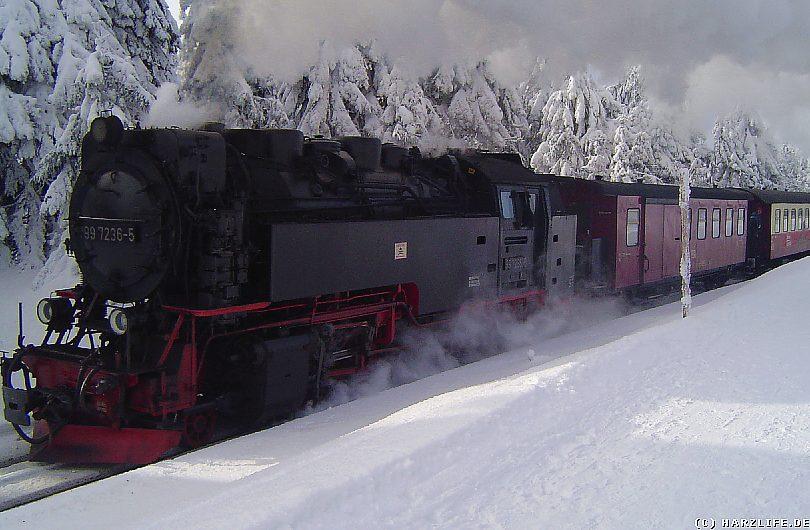 Winter im Harz - Die Brockenbahn im Wintereinsatz
