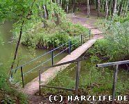 Brücke zwischen Opfersee und Grubenloch
