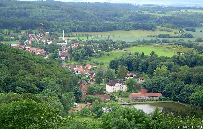 Burgruine Hohnstein - Blick auf Neustadt