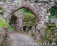 Burgruine Hohnstein - Das Burgtor