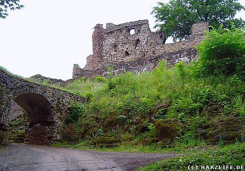 Blick auf die Burgruine