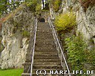 Burgruine Scharzfels - Aufgang zur Oberburg
