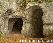 Felsengänge auf der Oberburg