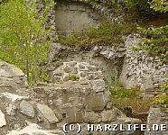 Mauerreste auf der Oberburg